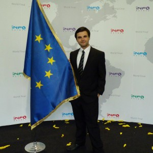 Ionut Budisteanu EU European Union flag