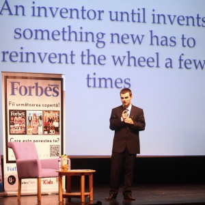 Ionut Budisteanu Forbes Inventors speech An inventor until invents something new has to reinvent the wheel a few times