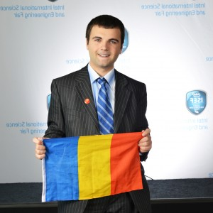 Ionut Budisteanu flag Intel ISEF